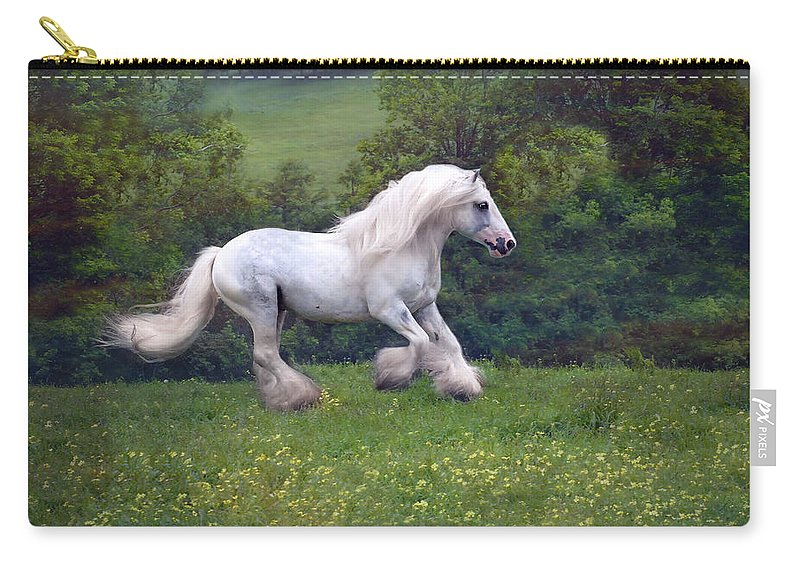 Horse Carry-all Pouch featuring the photograph Free Billy by Fran J Scott
