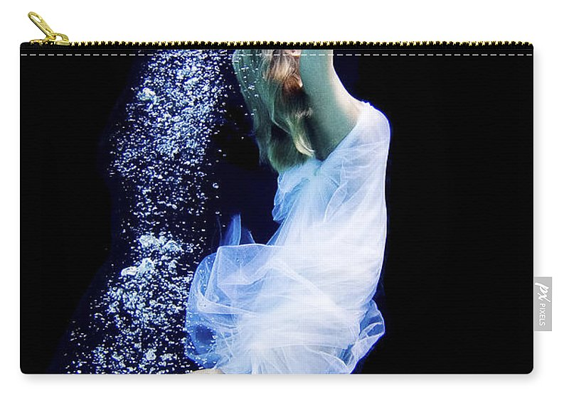 Underwater Carry-all Pouch featuring the photograph Free Fall by Steve Williams