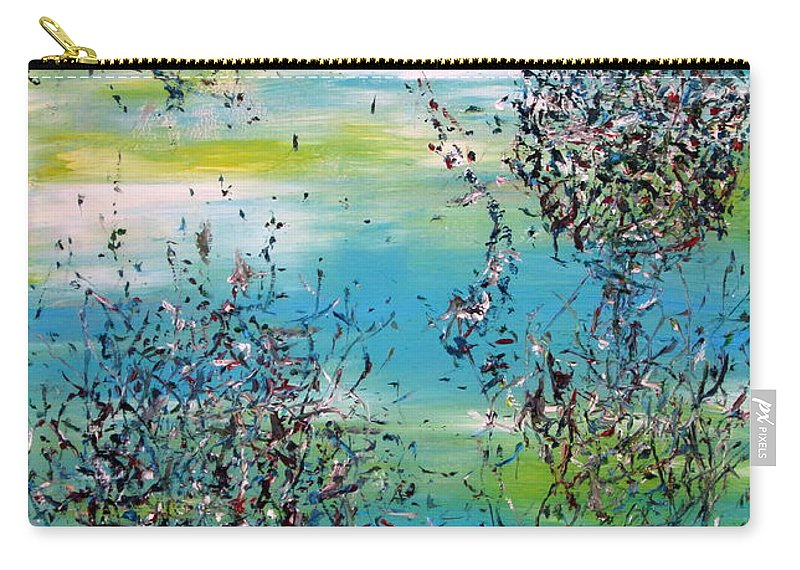 Abstract Carry-all Pouch featuring the painting Free Improvisation #11 by Fabrizio Cassetta