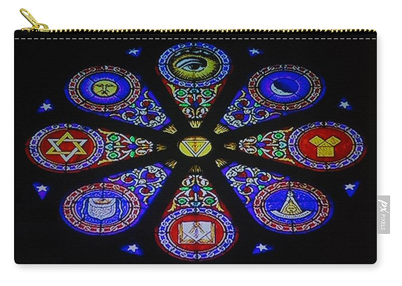 Free Mason Carry-all Pouch featuring the photograph Free Masons by Rob Hans
