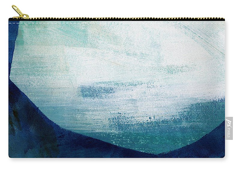 Blue Carry-all Pouch featuring the painting Free My Soul by Linda Woods