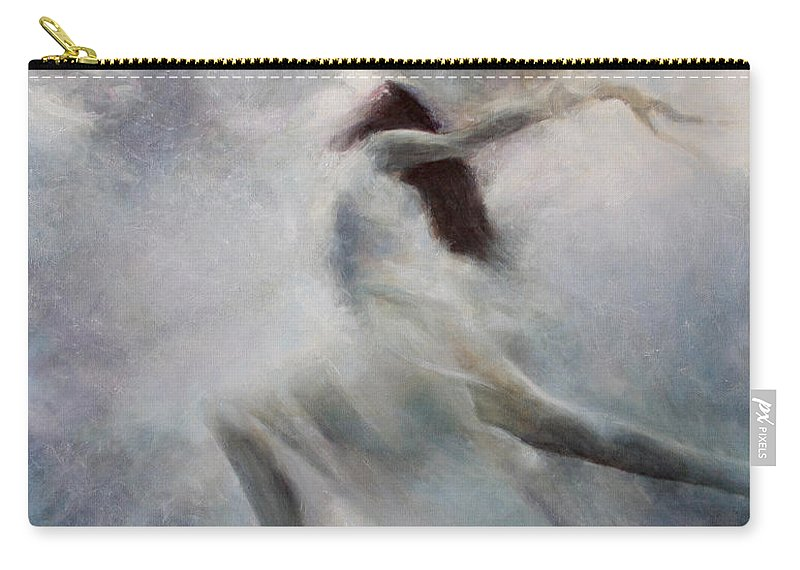 Blue Carry-all Pouch featuring the painting Freedom by Darko Topalski