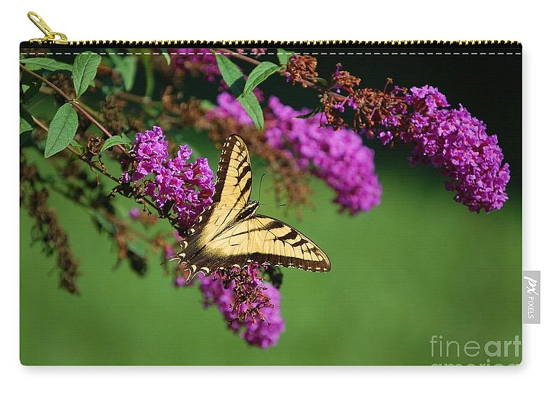 Butterfly Carry-all Pouch featuring the photograph Freedom by Debbi Granruth