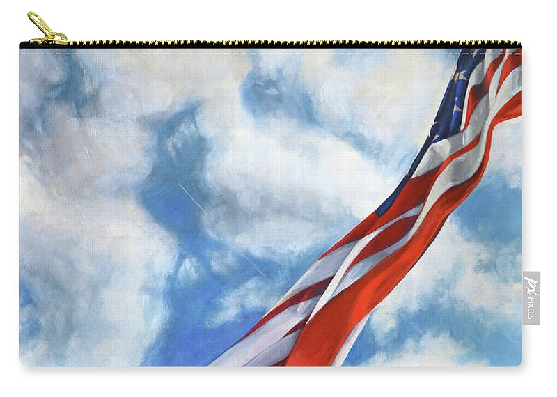 Air Force Carry-all Pouch featuring the painting Flying High by K Thompson Paul