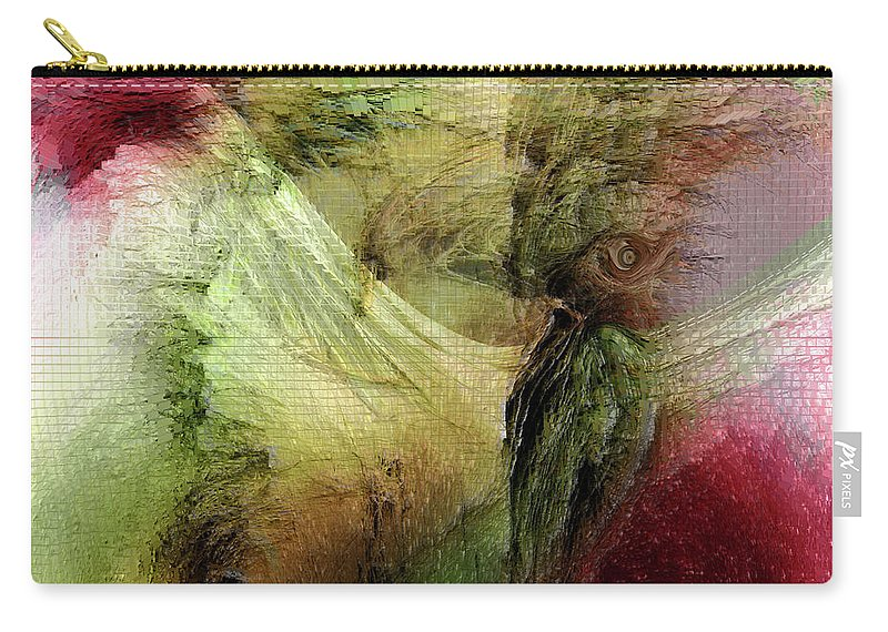 Freedom Art Carry-all Pouch featuring the digital art Freedom by Linda Sannuti