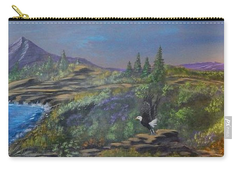 Landscape Carry-all Pouch featuring the painting Freedom by Robert Clark