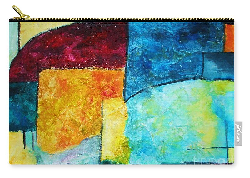 Acrylic Painting Carry-all Pouch featuring the painting Freedom by Yael VanGruber