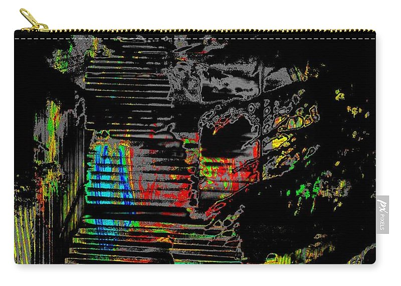 Seattle Carry-all Pouch featuring the digital art Freeway Park Steps by Tim Allen