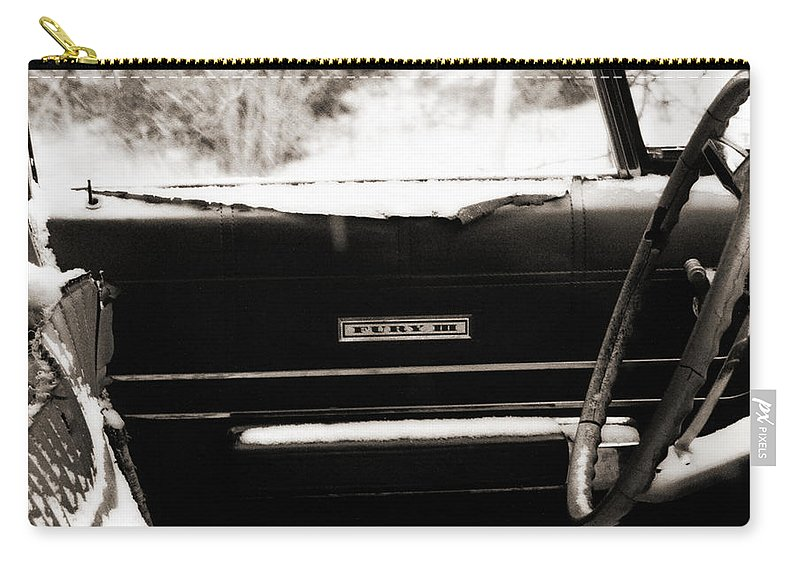 Car Carry-all Pouch featuring the photograph Freezing Fury by Marilyn Hunt