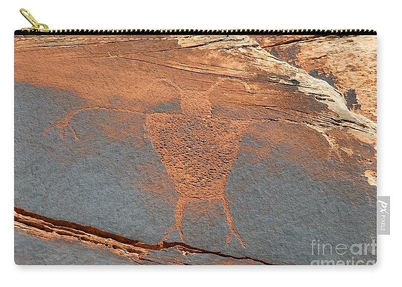 Petroglyph Carry-all Pouch featuring the photograph Fremont Man by David Lee Thompson