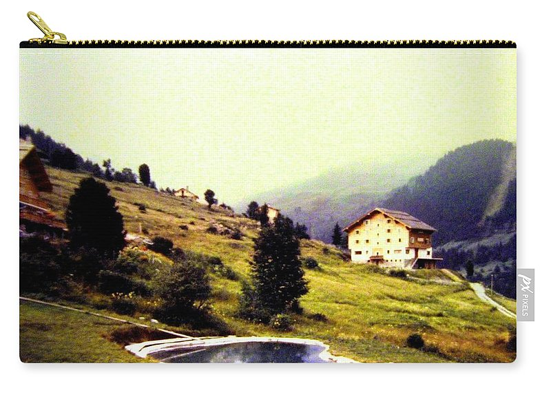 1955 Carry-all Pouch featuring the photograph French Alps 1955 by Will Borden