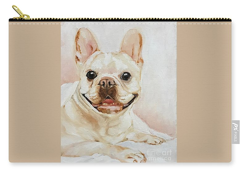 Pet Carry-all Pouch featuring the painting French Bulldog by Boni Arendt
