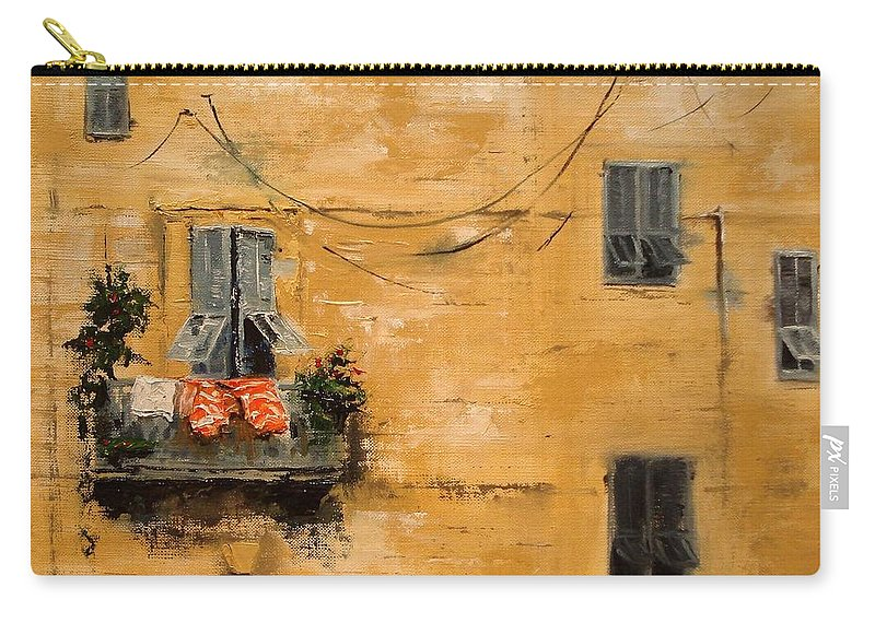 French Carry-all Pouch featuring the painting French Laundry by Barbara Andolsek