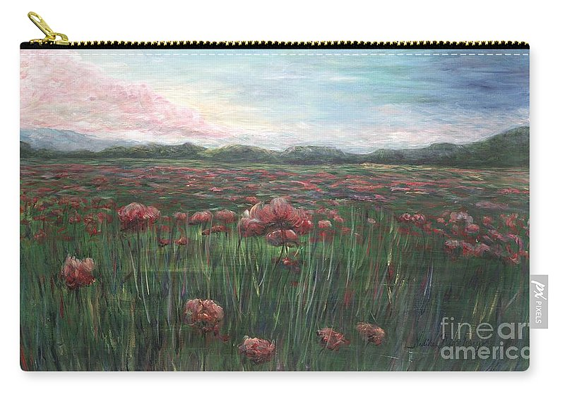 France Carry-all Pouch featuring the painting French Poppies by Nadine Rippelmeyer