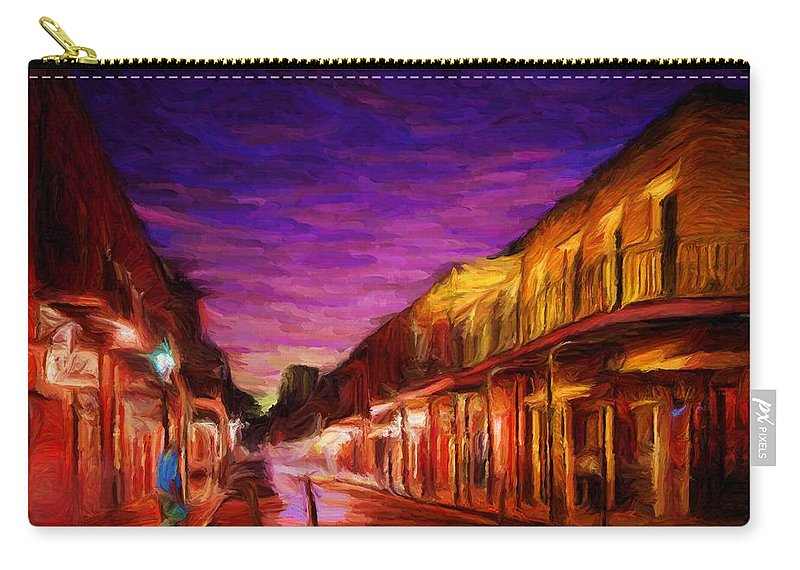 French Quarter Carry-all Pouch featuring the digital art French Quarter 1 by Caito Junqueira