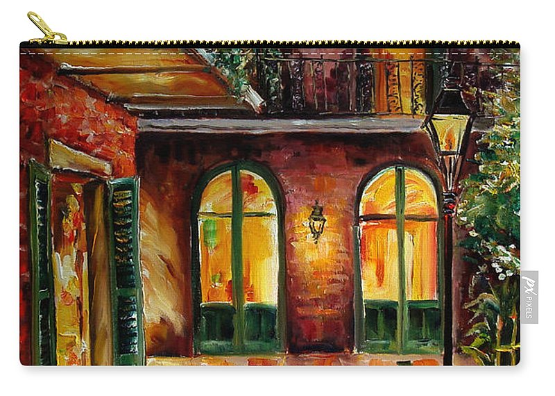 New Orleans Carry-all Pouch featuring the painting French Quarter Alley by Diane Millsap