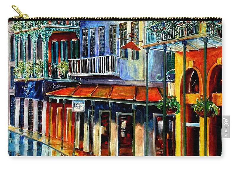 New Orleans Paintins Carry-all Pouch featuring the painting French Quarter Sunrise by Diane Millsap