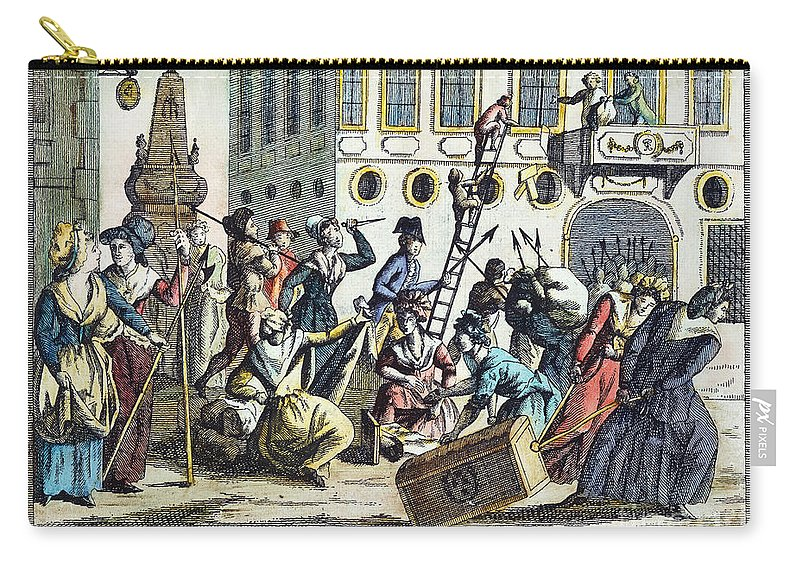 1789 Carry-all Pouch featuring the photograph French Revolution, 1789 by Granger