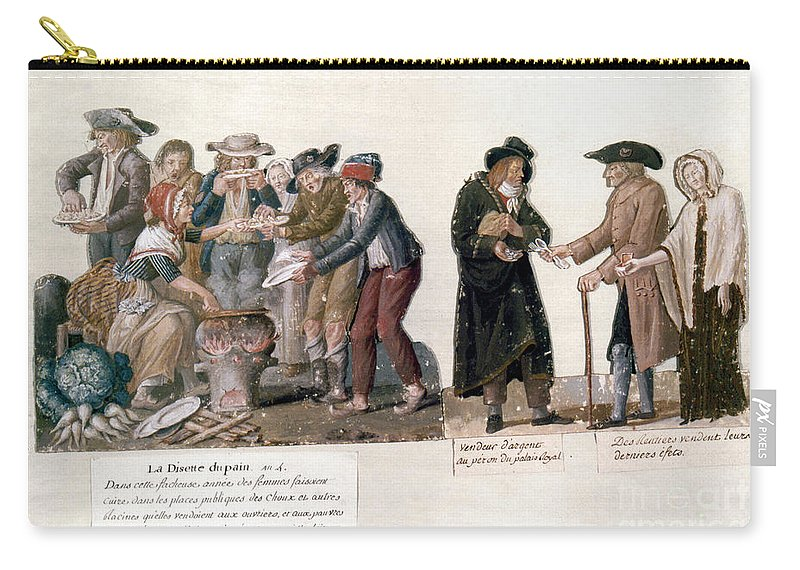 1795 Carry-all Pouch featuring the photograph French Revolution, 1795-96 by Granger