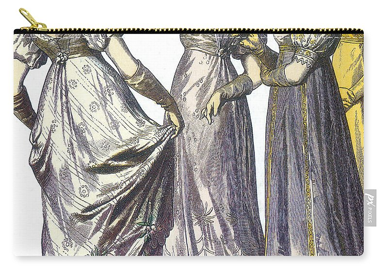 Fashion Carry-all Pouch featuring the photograph French Womens Fashion, 1808-09 by Science Source