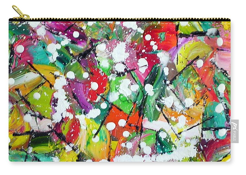 Frenchy Carry-all Pouch featuring the painting Frenchy by Dawn Hough Sebaugh