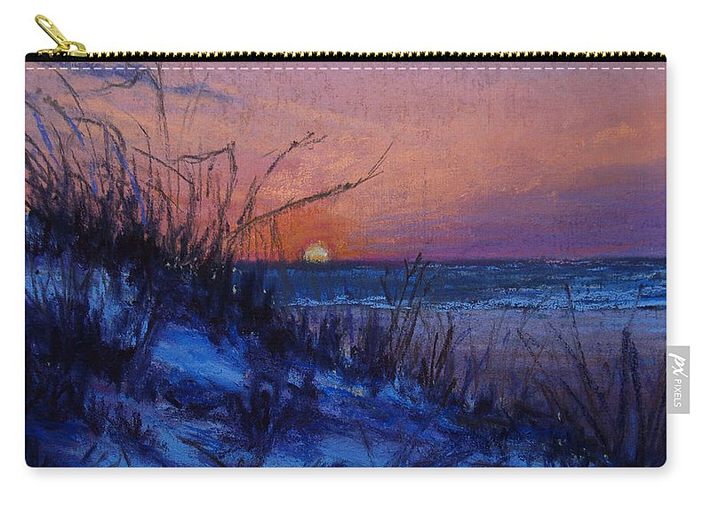 Landscape Carry-all Pouch featuring the pastel Frenchy's Sunset by Susan Jenkins