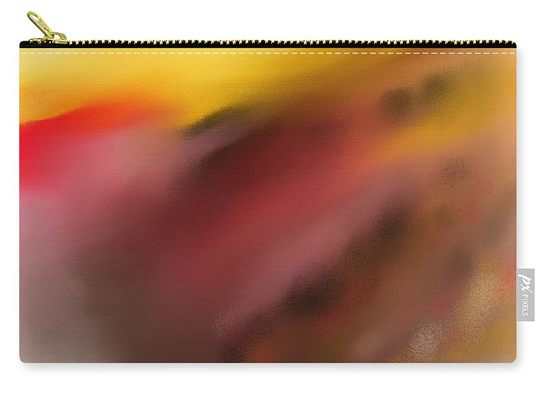 Digital Painting Carry-all Pouch featuring the digital art Frenetic Landscape by David Lane