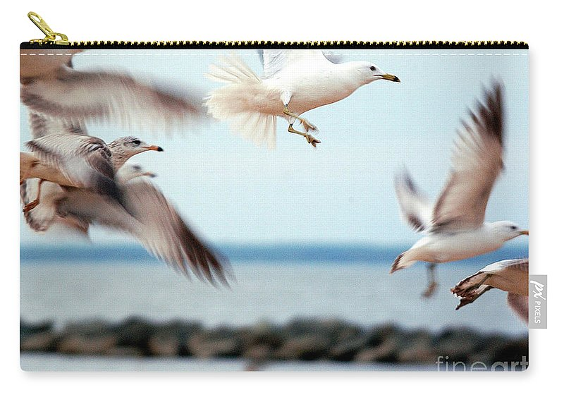 Clay Carry-all Pouch featuring the photograph Frenzy by Clayton Bruster
