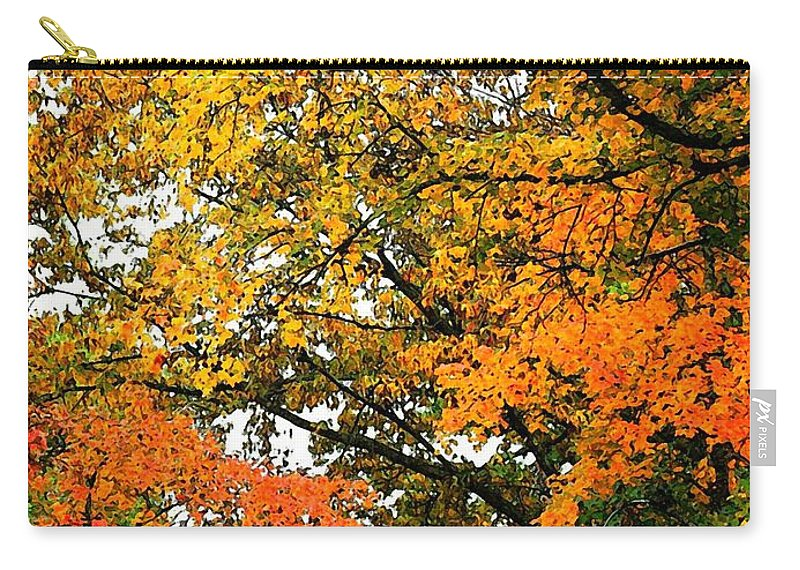 Art Carry-all Pouch featuring the photograph Fresco Autumn Diptych Right by Ellen O'Reilly