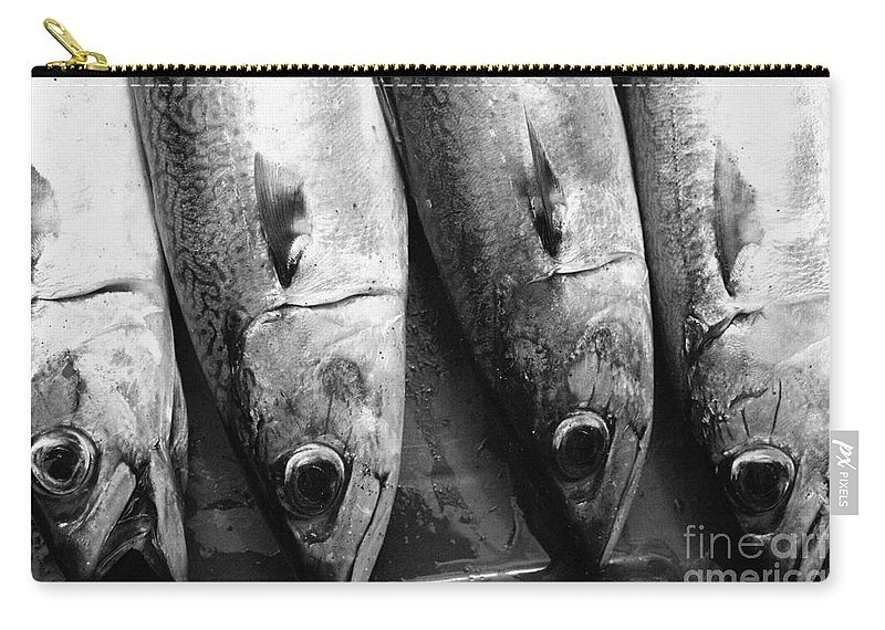 Black And White Carry-all Pouch featuring the photograph Fresh Catch by Gaspar Avila