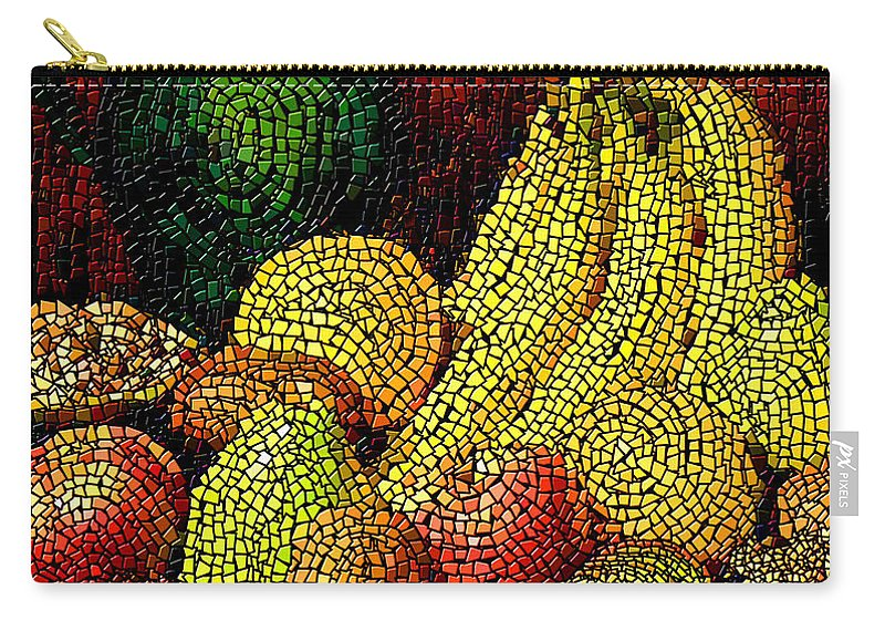 Fruit Carry-all Pouch featuring the digital art Fresh Fruit Tiled by Stephen Lucas