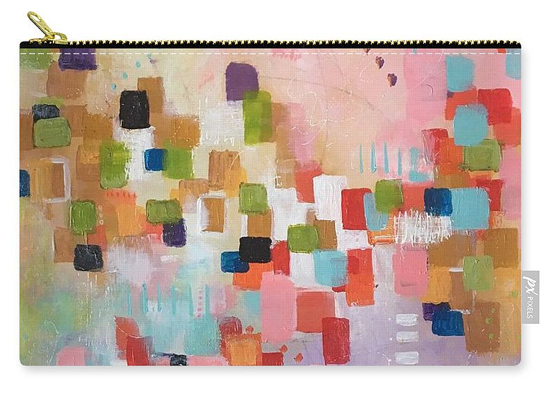 Abstract Carry-all Pouch featuring the painting Fresh Morning by Suzzanna Frank