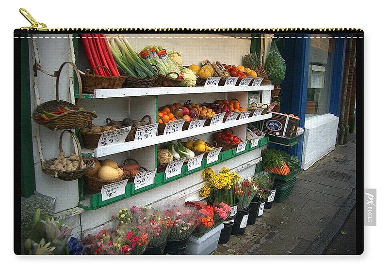 Shaftesbury Carry-all Pouch featuring the photograph Fresh Produce by Tim Nyberg