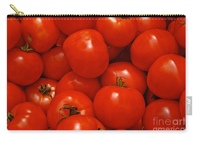 Tomato Carry-all Pouch featuring the photograph Fresh Red Tomatoes by Thomas Marchessault
