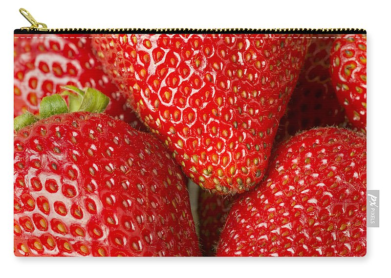 Berries Carry-all Pouch featuring the photograph Fresh Strawberries by John Trax