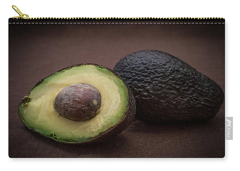 R3d Photography Carry-all Pouch featuring the photograph Fresh Whole And Half Avocado by Ray Sheley