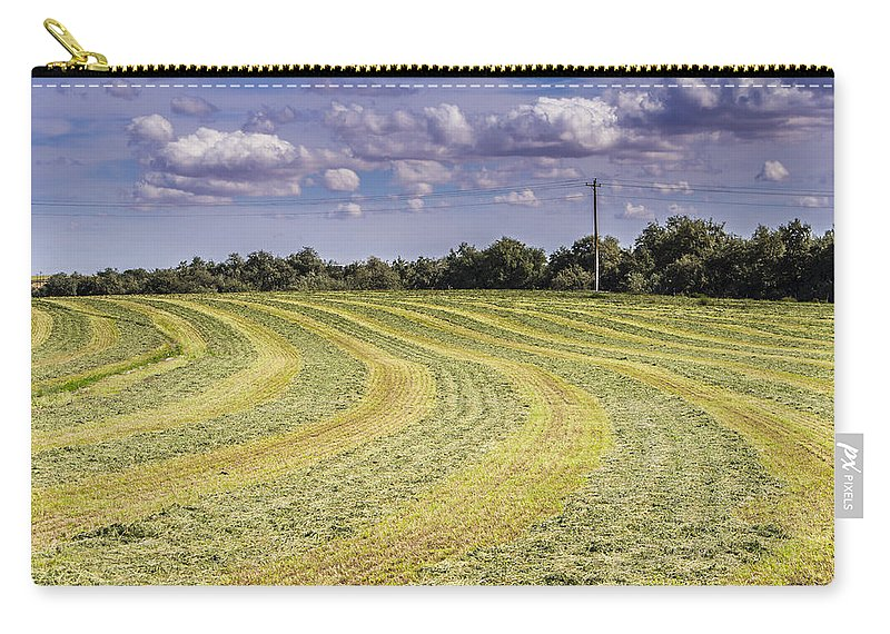 Summer Carry-all Pouch featuring the photograph Freshly Mown Hay by John Trax