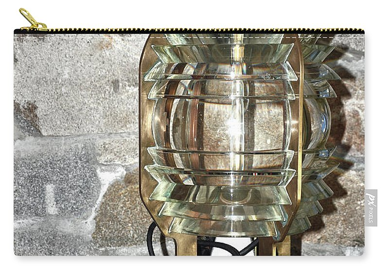 Lighthouse Light Carry-all Pouch featuring the photograph Fresnel Lens by Colleen English