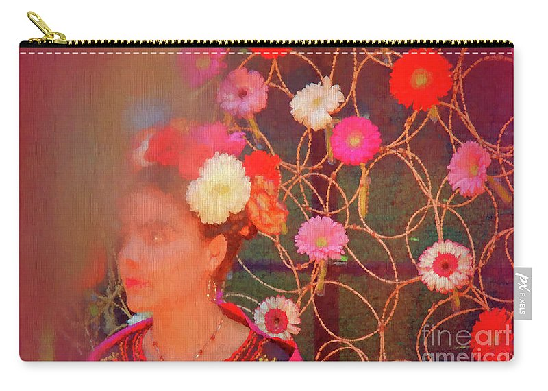 Painter Carry-all Pouch featuring the photograph Frida Kalho Inspired by Daniele Auvray