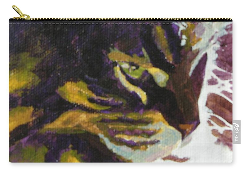 Cat Carry-all Pouch featuring the painting Friday In The Sun by Mary McInnis