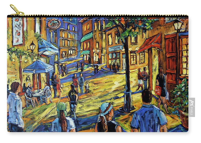 Art Carry-all Pouch featuring the painting Friday Night Walk Prankearts Fine Arts by Richard T Pranke
