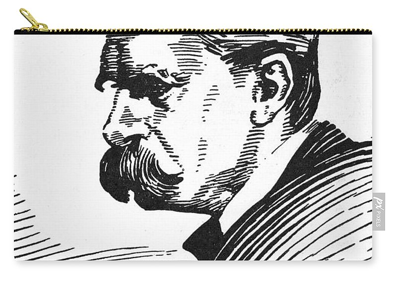 19th Century Carry-all Pouch featuring the photograph Friedrich Nietzsche by Granger