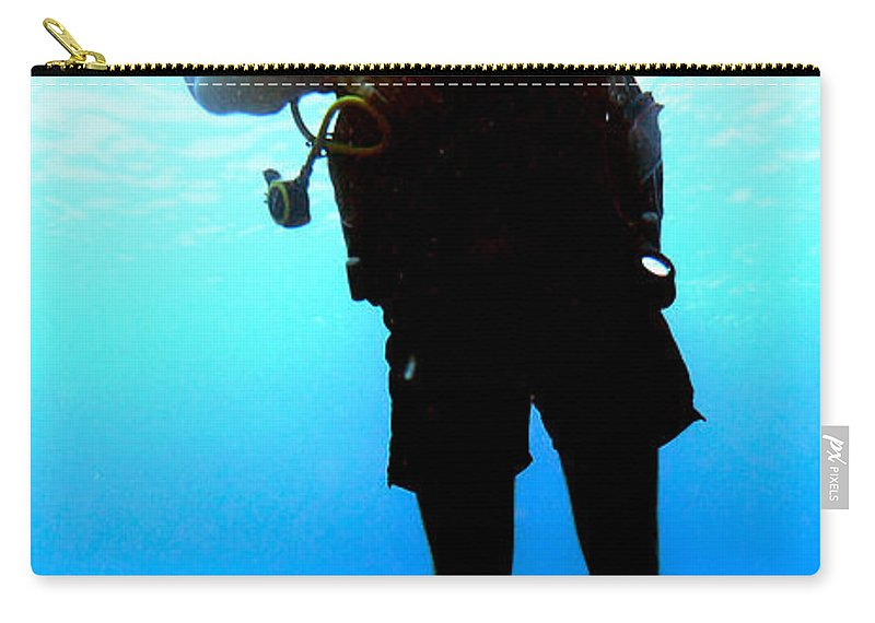 Scuba Diver Carry-all Pouch featuring the photograph Friends In Yellow by Mumbles and Grumbles