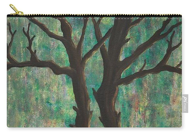 Trees Carry-all Pouch featuring the painting Friends by Jacqueline Athmann