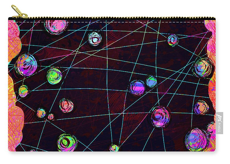 Abstract Carry-all Pouch featuring the digital art Friends by William Russell Nowicki