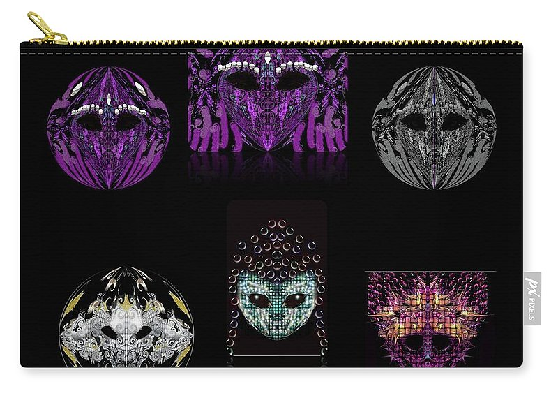 Carry-all Pouch featuring the digital art Friends? by Subbora Jackson