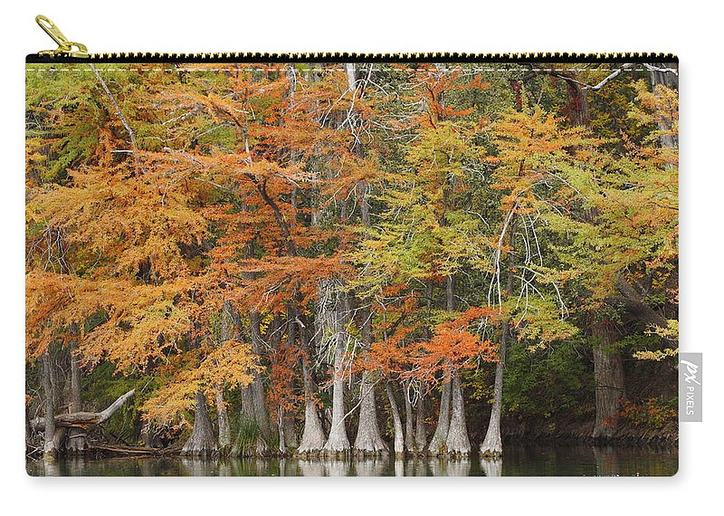 Fall Carry-all Pouch featuring the photograph Frio River #5 2am-27571 by Andrew McInnes