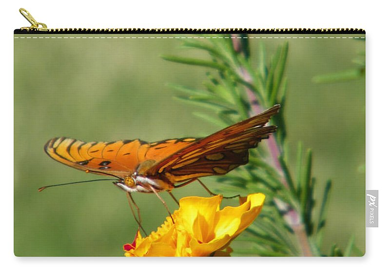 Fritillary Carry-all Pouch featuring the photograph Fritillary Flitterby by Gale Cochran-Smith