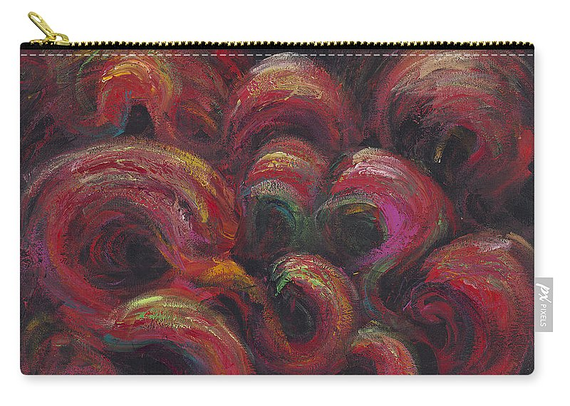 Frivolity Carry-all Pouch featuring the painting Frivolity by Nadine Rippelmeyer