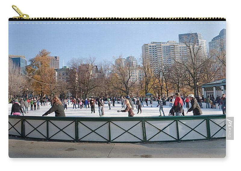 Boston Carry-all Pouch featuring the photograph Frog Pond Skating Rink Boston Common by Thomas Marchessault